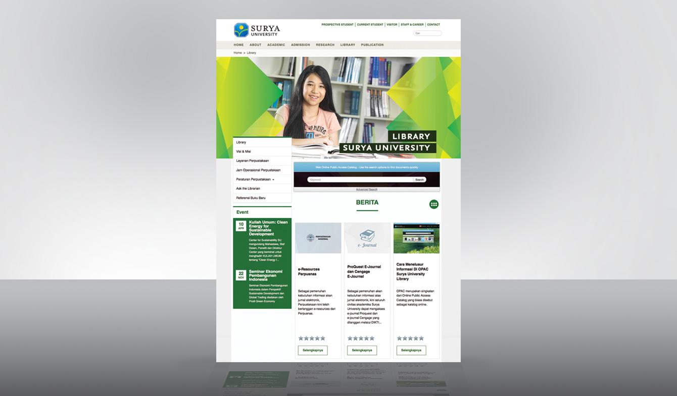 Web Dev. www.surya.ac.id v.2